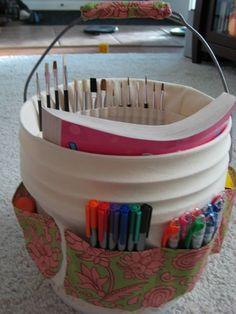 balde de papelão decorado - Pesquisa Google