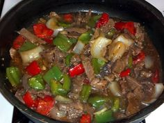 """Mom's Pepper Steak! """"this dish was very good. Nice and simple.""""  @allthecooks #recipe #beef #dinner #steak #easy #hot"""