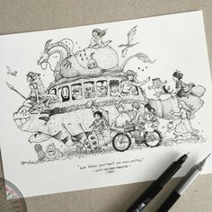 Filipino Freelance Illustrator   Sketchbook Lover   Works with pen and ink   kerby.rosanes@gmail.com...
