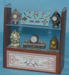 OOAK Miniature Beautiful Jewelry Clock Watch Doll Display England 1 12