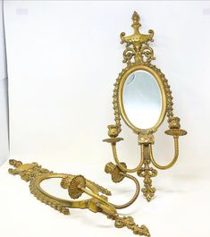 Beautiful large scale solid brass vintage oval framed neoclassical style wall mounted decorative candle holders. Candle Holder Decor, Oval Frame, Neoclassical, Solid Brass, Wall Mount, Sconces, Scale, Candles, Beautiful