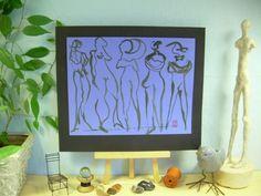 IMPRESSIONIST ART = C PETERSON oil painting ORIGINAL ART figures series #5 #Impressionism