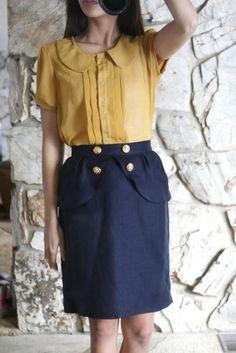 Diy back to school : DIY anthropologie honeyed peplum skirt