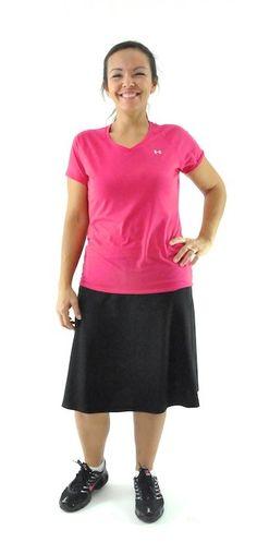 Athletic Exercise Skort / Ladies - has loose shorts underneath