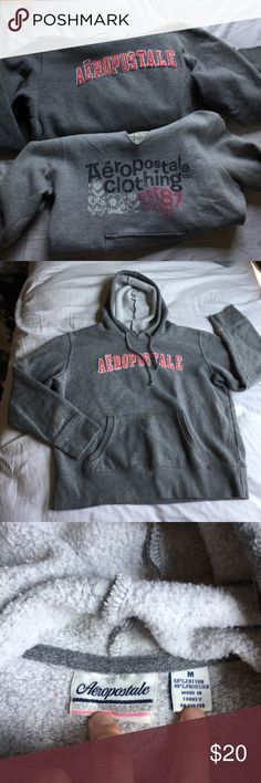 Aero Sweatshirt Bundle 2 Aeropostale Sweatshirts, both size medium. Lighter gray sweatshirt has quarter sleeves. Both seem to fit a small better than medium, just might be a tighter fit on an actual medium! very comfy and perfect for lounging Aeropostale Tops Sweatshirts & Hoodies