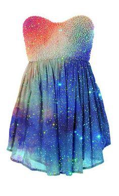 dress galaxy prom dress short dress rainbow glitter dress glitter would never wear this too prom but so adorable Pretty Dresses, Beautiful Dresses, Amazing Dresses, Estilo Rock, Moda Chic, Glitter Dress, Sparkle Dresses, Sequin Dress, Fashion Beauty