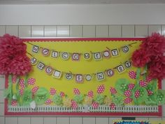 Bulletin Board Welcome Sign