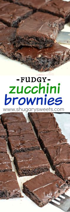 Brownies Rich and decadent Chocolate Zucchini Brownies topped with an incredible chocolate fudge frosting!Rich and decadent Chocolate Zucchini Brownies topped with an incredible chocolate fudge frosting! Chocolate Zucchini Brownies, Chocolate Fudge Frosting, Decadent Chocolate, Chocolate Desserts, Healthy Zucchini Brownies, Chocolate Muffins, Chocolate Chocolate, Just Desserts, Delicious Desserts