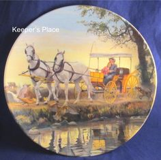 "Vintage Knowles ""The Surrey With The Fringe On Top"" 2nd Issue In Oklahoma Mort Kunstler Collectors Plate 1985 Mint Free Shipping by KeepersPlace on Etsy"