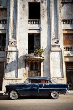Cuba.   A pity what the regime has allowed to happen to the once glorious infrastructure.