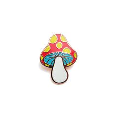 """Take+a+little+trip+with+this+1.125""""+/+2mm+thick,  Copper+plated,+soft+cloisonné+style+enamel+pin.    Featuring+a+single+post+with+rubber+clutch."""