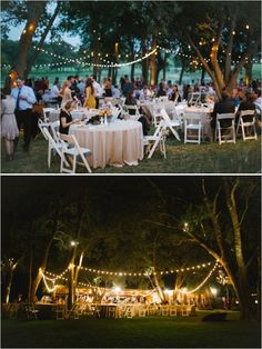 outdoor reception lighting