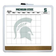 This dry erase cork board and calendar lets Michigan State Spartans fans easily keep track of their busy lifestyle. Calendar Pictures, Dry Erase Calendar, Board For Kids, Michigan State Spartans, Dry Erase Board, Business Presentation, Home Depot, More Fun, Cork
