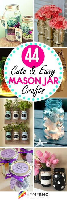 44 DIY Mason Jar Craft Ideas You Should Look #manualidades_diy_mason_jars