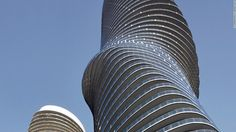 Curves are so hot - they built two curvy side by side condos designed after Marilyn Monroe