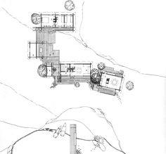 Heikki & Kaija Siren - House in Lingonsö, Finland Siren Design, Detailed Drawings, Helsinki, Finland, Diagram, How To Plan, Masters, Image, Summer