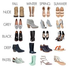 """Seasonal Shoe Matrix"" by thecapsuleproject on Polyvore featuring Wallis, Dolce Vita, H&M, Zara, Boohoo, rag & bone, Gianvito Rossi, Givenchy, Burberry and Kenneth Cole Reaction"
