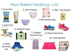 Club MomMe - MomMe Blog - 10 Things to Pack For the Beach or Pool with Your Baby or Toddler