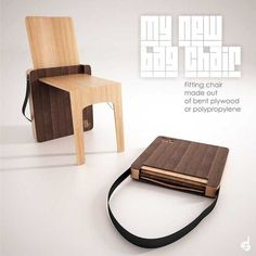Portable Folding Chair Design, Bag Chair by Stevan Djurovic