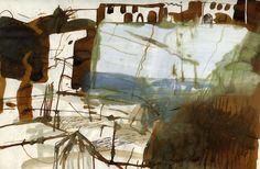 Barbara Rae: Sketchbooks Watercolor Landscape, Abstract Landscape, Landscape Paintings, Abstract Art, Landscapes, Artist Journal, Artist Sketchbook, Barbara Rae, Sketchbook Inspiration
