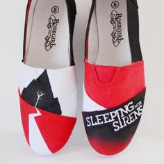 DIY Custom Sleeping with Sirens Sneakers