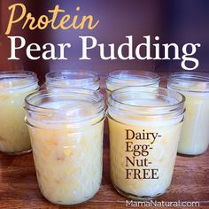 Need a healthy and satsifying snack recipe? Each serving of this protein pear pudding contains healthy sugar, protein, and fat. Plus, it tastes delicious! Gelatin Recipes, Gf Recipes, Baby Food Recipes, Whole Food Recipes, Snack Recipes, Healthy Recipes, Paleo Treats, Healthy Snacks, Gelatin Health Benefits