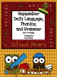 September Daily Language Arts - 1st Grade from Climb Into First Grade on TeachersNotebook.com -  (15 pages)  - An entire month of daily language arts review - great for morning work!