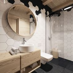 Already complete searching for minimalist bathroom decor for my small minimalist bathroom. Bathroom Spa, Wood Bathroom, Bathroom Renos, Bathroom Layout, Bathroom Interior Design, Bathroom Furniture, Modern Bathroom, Small Bathroom, Master Bathroom