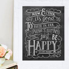 Just Be Happy - Print #Gifts #Print #Quote