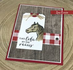3 Perfect Examples of the Power of a Card Sketch - Lisa's Stamp Studio Let it Ride, Buffalo Check, Wood Textures DSP Diy Cards, Your Cards, Men's Cards, Quick Cards, Horse Cards, Birthday Cards, Birthday Images, Birthday Quotes, Birthday Greetings