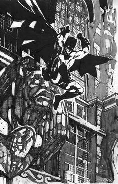 John Paul Leon Batman Comic Art