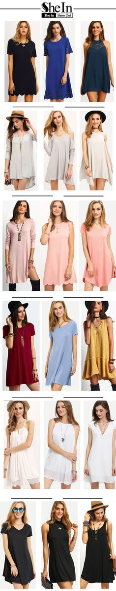 Cozy summer outfit with summer dresses. Casual plain tshirt dress today recommend for you. Good fit and thick material. Start with US$9.90 from shein.com.