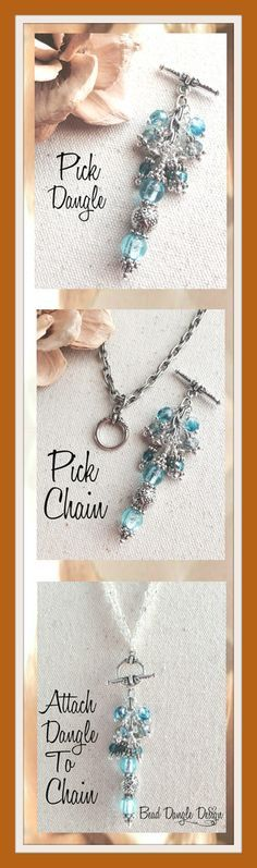 ** Interchangeable Bead Dangle Design Pendant Necklaces @beaddangledesign