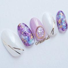 Cute Nail Art, Nail Art Diy, Cute Nails, Asian Nails, Korean Nails, Best Nail Art Designs, Nail Designs Spring, Gem Nails, Hair And Nails