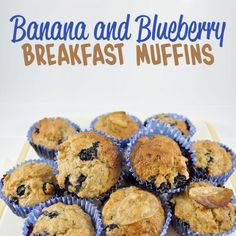 Delicious recipes for the kids to enjoy, Banana & Blueberry Breakfast Muffins