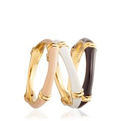 Buy Sea Shell Bamboo Ring by Astley Clarke Colour online at Astley Clarke