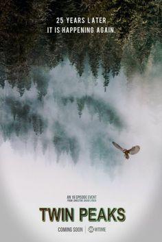 """""""It is happening again."""" Twin Peaks fan poster by Austin Shaddix"""