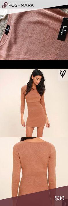 Sweater dress New with tags, terra cotta bodycon sweater dress Lulu's Dresses Midi