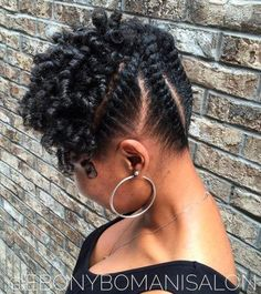 Flat Twists Updo For Shorter Hair