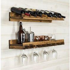 #farmhousekitchen #winerack Trent Austin Design Berlyn 2 Piece 8 Bottle Wall Mounted Wine Rack Set