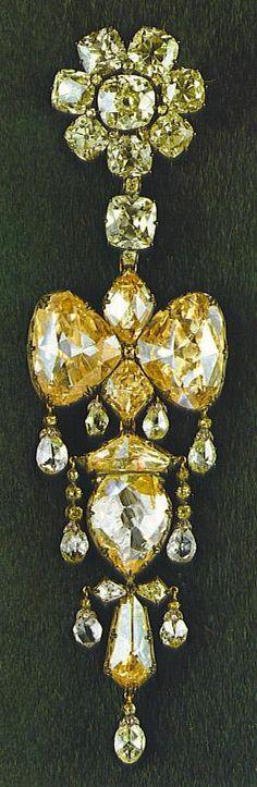 broche de l'Impératrice Eugénie, dont les diamants Mazarin