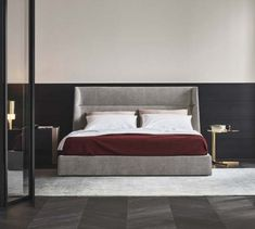 Design : Carlo Colombo The bed Chloe is an addition to the author. Chloe is an example of pure softness and reassuring comfort;