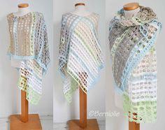 Berniolie: Lotte Shawl, #crochet, free pattern, wrap, #haken, gratis patroon (Engels), sjaal, shawl, stola, #haakpatroon + haakschema, omslagdoek,
