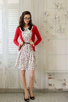 Paws and Poise Dress   Mod Retro Vintage Dresses   ModCloth.com