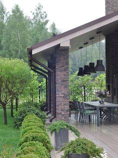 Backyard Patio Designs, Pergola Patio, Backyard Landscaping, Beautiful House Plans, Beautiful Homes, Outdoor Rooms, Outdoor Living, Modern Farmhouse Exterior, Exterior Design