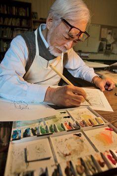 Hayao Miyazaki - Studio Ghibli - Spirited Away Artist At Work, Animation, Japanese Animation, Castle In The Sky, Art, Studio Ghibli Movies, Anime Movies, Manga