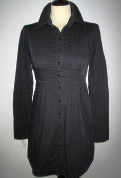 * * * MAX WELL Hemdkleid mit Biesen schwarz, Gr.S * * * | eBay