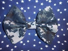 NWU Navy Hair Bow by AnAnchorOfLove on Etsy, $6.50