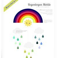 Freebie Regenbogen Mobile