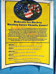 University of Pittsburgh Greensburg / Hockey Saves charity game Nov 14
